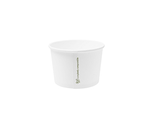 Hot Container White 8oz 280ml - Vegware - Pack or Carton