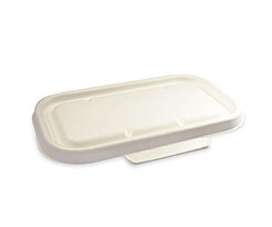 Takeaway Container Lid White or Natural Large BioCane - BioPak