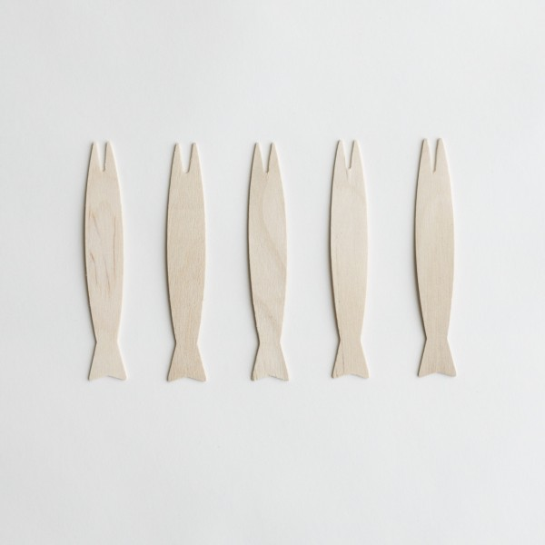 Wooden Fish Shaped Fork 9cm - Epicure