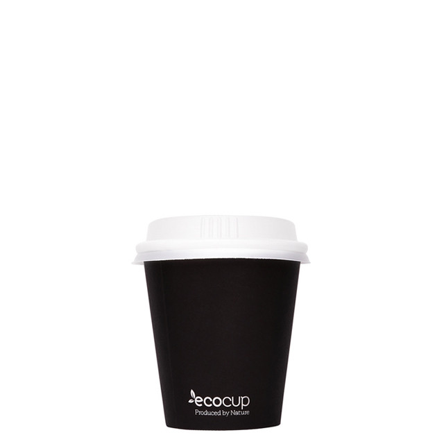 Hot Cup PLA Single Wall Black 4oz - Ecoware