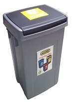 Bin Recycling Yellow for Paper
