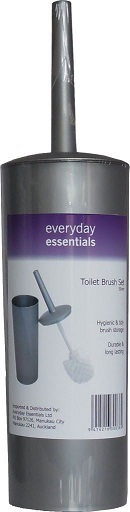 Toilet Brush Set - Silver