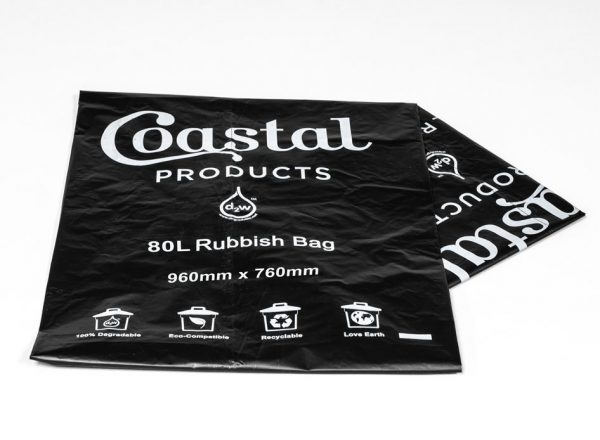 80L Oxo-Degradable Rubbish Bag - Coastal