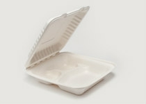 Clam Tray Sugar Cane 20 x 21 cm 3 Comp - Vegware