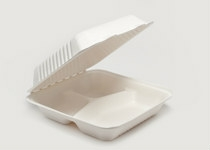 Clam Tray Sugar Cane 23x23cm 3comp - Vegware