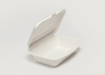Clam Tray Sugar Cane 25x16cm 2comp - Vegware