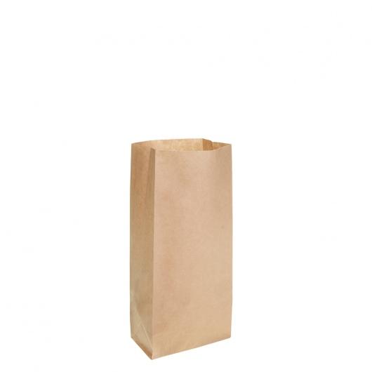 Brown Block Bottom Paper Bag No 0 Heavy Duty 100W x 220H (50mm gusset) - UniPak