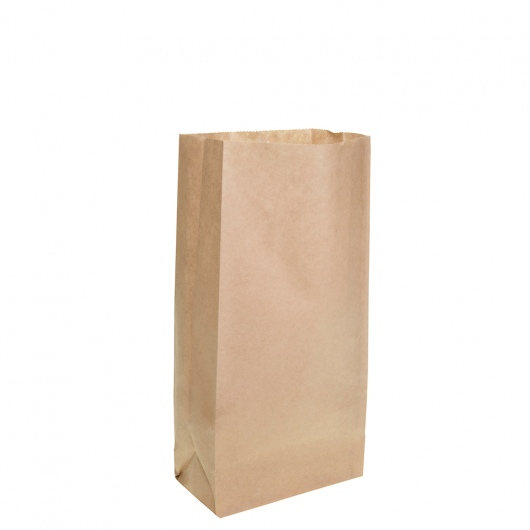 Brown Block Bottom Paper Bag No 1 Heavy Duty 127W x 270H (77mm gusset) - UniPak