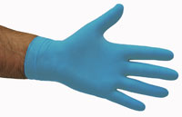 Nitrile Low Modulus Gloves Blue - Selfgard
