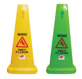 Safety Cone - Wet Floor Lime - 60cm - Glomesh