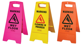 Heavy Duty Safety Sign - Wet Floor Orange - Glomesh