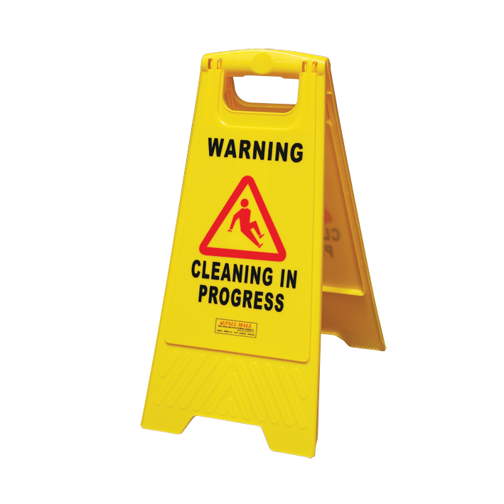 Heavy Duty Safety Sign - Cleaning in Progress Yellow - Glomesh