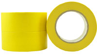 Yellow Premium High Temp Crepe Rubber Masking Tape 18mm - Pomona