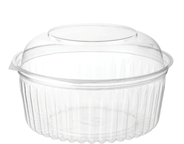 Eco-Smart' Clearview' Food Bowls 32 oz Hinged Dome Lid, Clear - Castaway