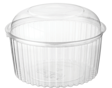 Eco-Smart' Clearview' Food Bowls 48 oz Hinged Dome Lid, Clear - Castaway