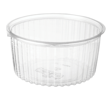 Eco-Smart' Clearview' Food Bowls 48 oz Hinged Flat Lid, Clear - Castaway