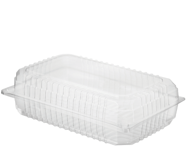 Eco-Smart' Clearview' Salad Pack Super, Hinged Lid, Clear - Castaway