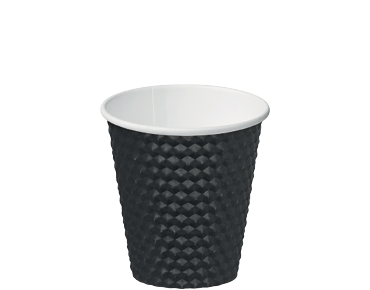8oz Black Dimple' Paper Hot Cup - Castaway