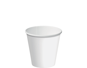 6oz White Single Wall Paper Hot Cup w/Classic Lid - Castaway
