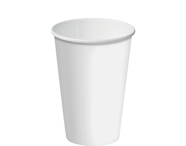 12oz White Single Wall Paper Hot Cup w/Classic Lid - Castaway