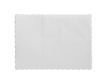 Parego' Embossed Tray Mat, Scalloped Edge, White 300x430mm - Castaway