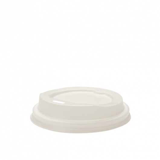 Lids for 4oz Hot Cups White - Green Choice
