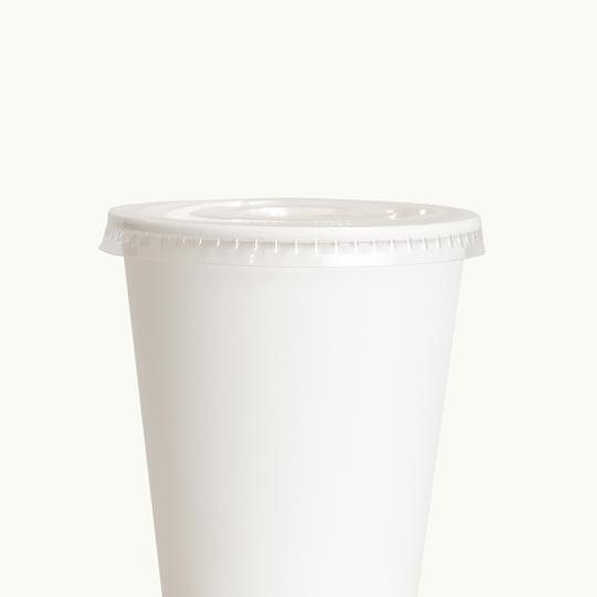 Bioplastic EcoCup Lid with Straw Hole - Ecoware