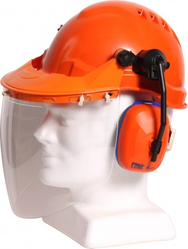 Hard Hat Combo with Clear Visor available with any TN1 Hard Hat - Esko