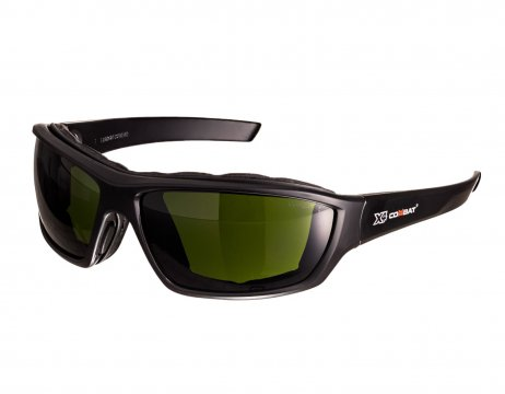 COMBAT X4' Safety spec, Foam seal, Shade Welding 3 Lens - Esko