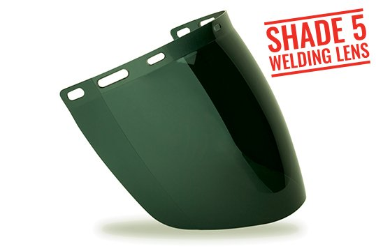 TUFF-SHIELD' Shade 5 Welding Visor designed to fit TS-BG/HHBGE - Esko