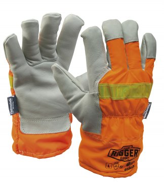 REFLECTOR Rigger Glove woth Orange Reflective back & Thinsulate lining - Esko