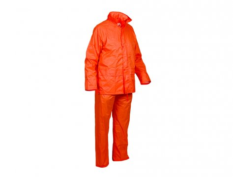 Good2Glow' Rainsuit, Jacket & Pant Set, Neon Orange - Esko
