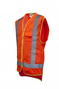 Good2Glow' Hi-Vis Vest, Phone, Pen, ID & Inside Pockets - Esko