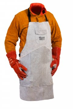 FUSION' Leather Welders Apron, Kevlar Stitched, Size Large - Esko