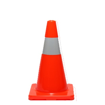 Orange PVC Reflectorised Cone 450mm - Esko