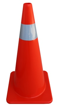Orange PVC Reflectorised Cone 700mm - Esko