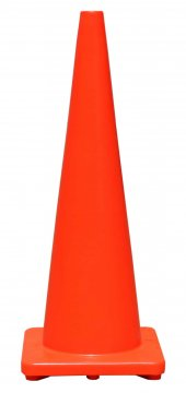 Orange PVC Plain Cone 900mm - Esko