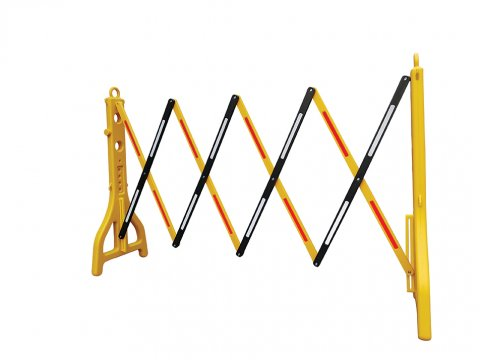 Plastic Extendable Barricade - Yellow and Black - Esko