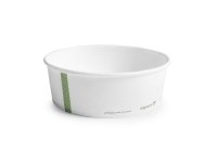 Hot Container white PLA-lined 32oz,18.5cm - Vegware - Pack & Carton