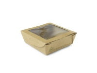 Med window box 650ml 12x12x4.5cm - Vegware