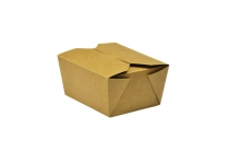 No.1 food carton 700ml 11x9x6.5cm - Vegware