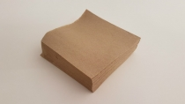 Serviette 2-ply unbleached Quilted 24x24cm cocktail 1/4 fold  - Vegware - Pack & Carton