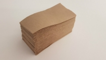 Serviette 2-ply unbleached Quilted 30x30cm lunch 1/8 fold - Vegware - Pack & Carton