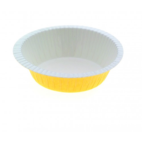 Paperboard Dualpak Round Pie Yellow - Confoil