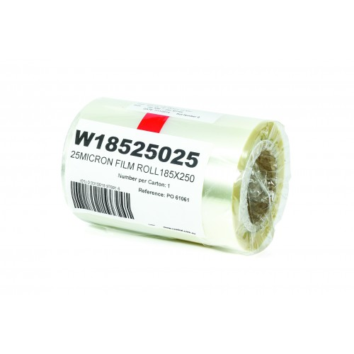 Film Heat Seal Lidding 185mm X 250M X 25Mu - Confoil