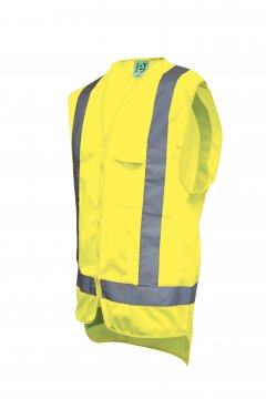 Good2Glow Yellow Hi-Vis Vest, Phone, Pen, ID & Inside Pockets - Esko
