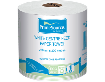Centrefeed Paper Roll Towels 300m - Castaway/Primesource