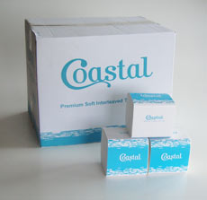 Interleaf Toilet Tissue - Coastal brand